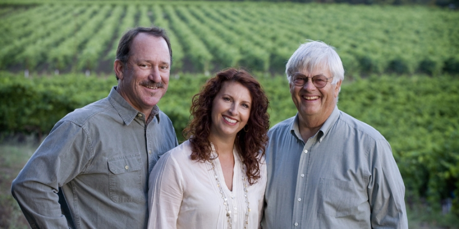 The Dry Creek Vineyard Family: Don Wallace, Kim Stare Wallace and Dave Stare