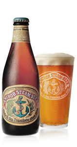 Anchor Steam Beer bottle and glass Picmonkey