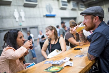 Beer Drinkers at CA Craft Beer event Picmonkey