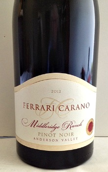 Ferrari Carano Middleridge PN bottle Picmonkey