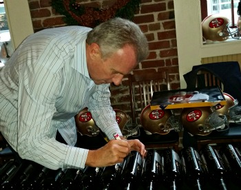 Joe Montana signs 1869 bottles Picmonkey