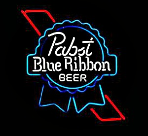 Pabst Blue Ribbon sign Picmonkey