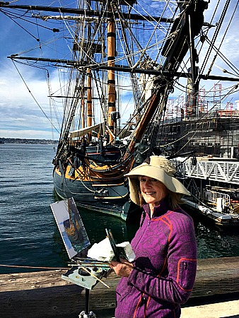 San Diego painter and sailing ship Picmonkey