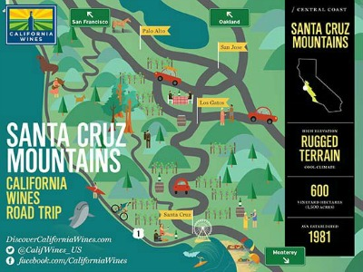 Santa Cruz Mountains wine map Picmonkey