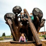 Wells Fargo Sculpture Garden and Kids