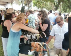 Woman pouring at Zinfest