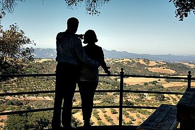 couple overlooking paso wine country Picmonkey