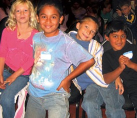 kids at Wells Fargo Family Theater Show Picmonkey
