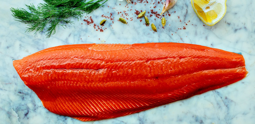 salmon whole fillet with herbs and lemon Picmonkey