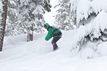 snowboarder at Tahoe Picmonkey