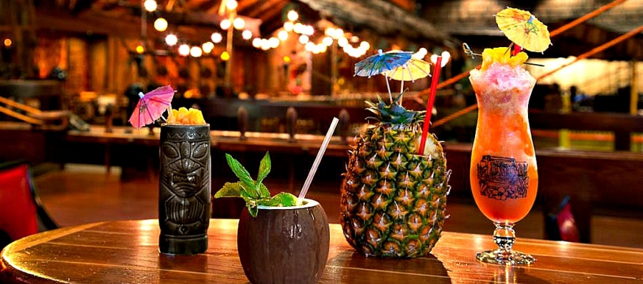 Just a few of the exotic libations served at the Fairmont Hotel's Tonga Room