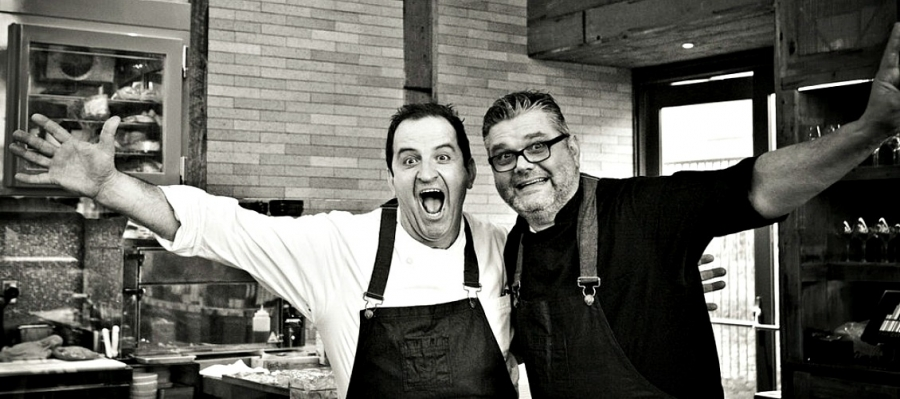 Chefs Donato Scotti and Gianluca Guglielmi are in an expansive mood
