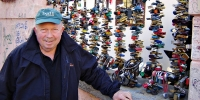 On one of his many visits to his second home in Prague, Pierce Carson paused by a popular tourist spot to which hundreds of locks have been attached.