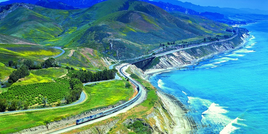 The Coast Starlight provides provifdes even more spectacular scenery than Hwy 1--and you don't have to keep your eyes on the road.