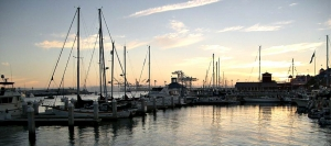 Early morning scene viewed from Jack London Square in Oakland