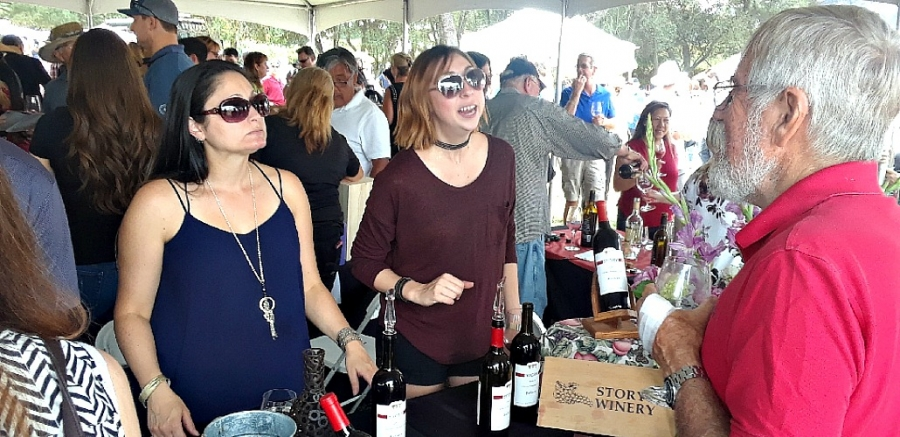 Ladies get story of Story Winery's Barbera