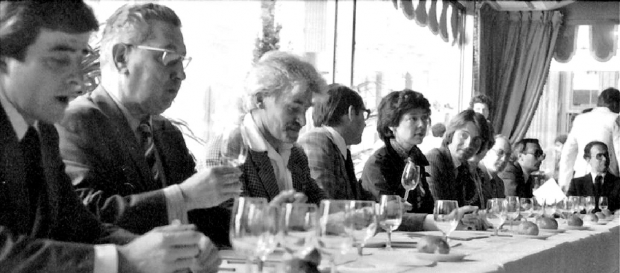 "Judges' panel at the now-famous ""Judgement of Paris"" in 1976"