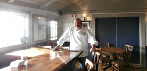 Chef Marc Dym on a sunlit Monday afternoon at the Little River Inn