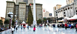You'll almost never experience snow in San Francisco, but each Christmas season you can ice skate at Union Square