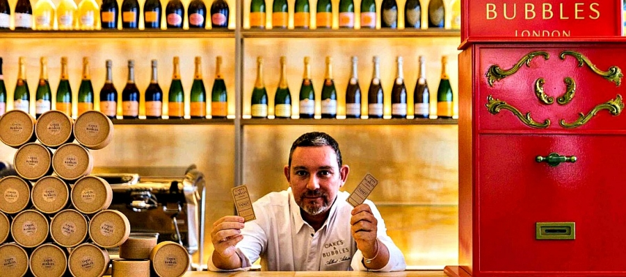 Albert Adria at his new Cakes and Bubbles in London