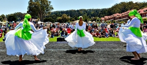 Dancers perform on the Parade Ground on a sunny day last year
