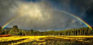 Rainbow over Meadow Valley captured by Michael Beatley on November 11, 2017