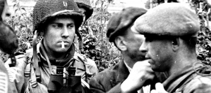 French resistance meets with 82nd Airborne shortly after D-Day landings