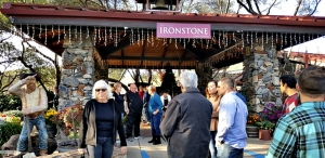 Visitors enter Ironstone Family Vineyards in Murphys