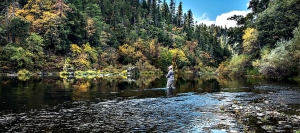 Fly fishing on the Klamath River in Northern California
