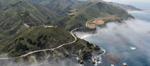 Hwy 1 at Big Sur on California's Central Coast