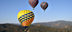 Up, up and away over rural Sonoma County